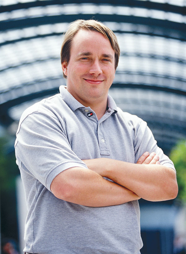 Image of Linus Torvalds, creator of the Linux kernel